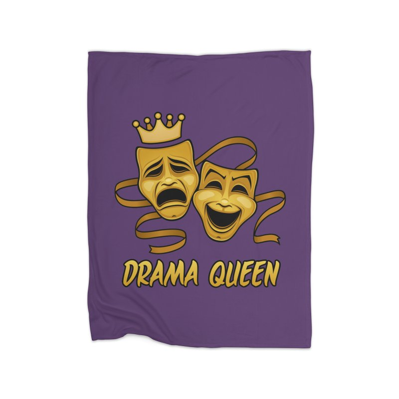 Drama Queen Comedy And Tragedy Gold Theater Masks Home Fleece Blanket Blanket by Fizzgig's Artist Shop