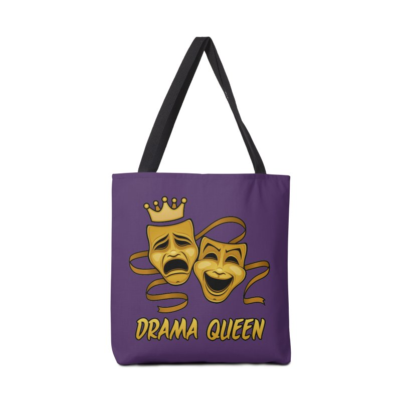 Drama Queen Comedy And Tragedy Gold Theater Masks Accessories Tote Bag Bag by Fizzgig's Artist Shop