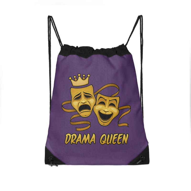 Drama Queen Comedy And Tragedy Gold Theater Masks Accessories Drawstring Bag Bag by Fizzgig's Artist Shop