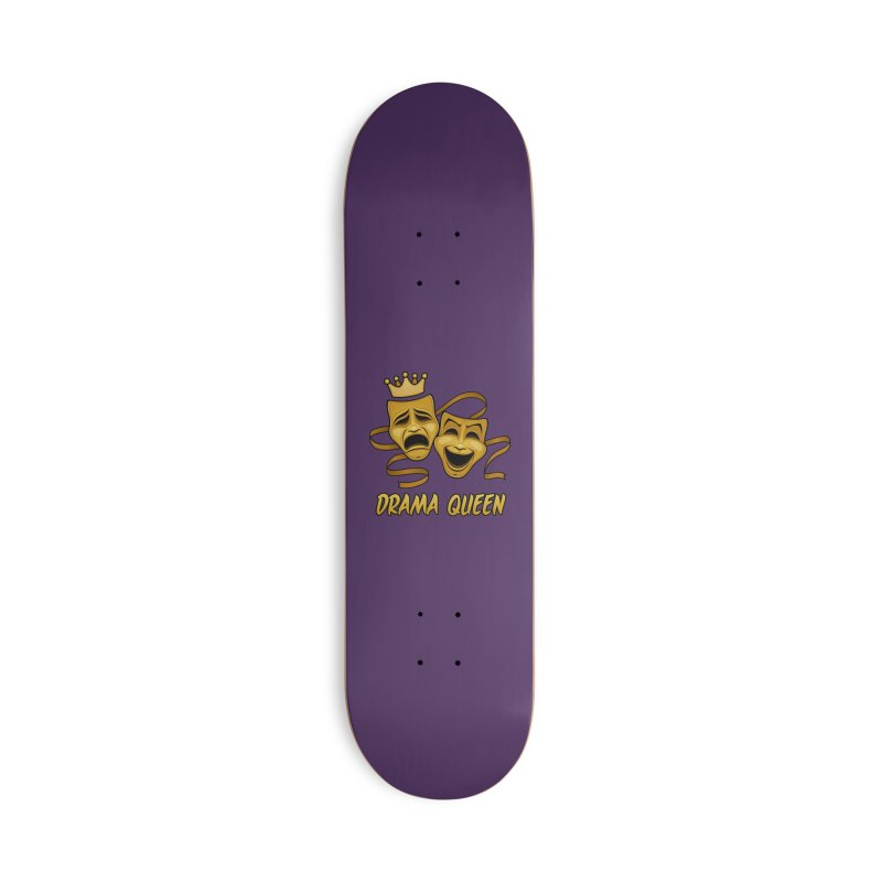 Drama Queen Comedy And Tragedy Gold Theater Masks Accessories Deck Only Skateboard by Fizzgig's Artist Shop