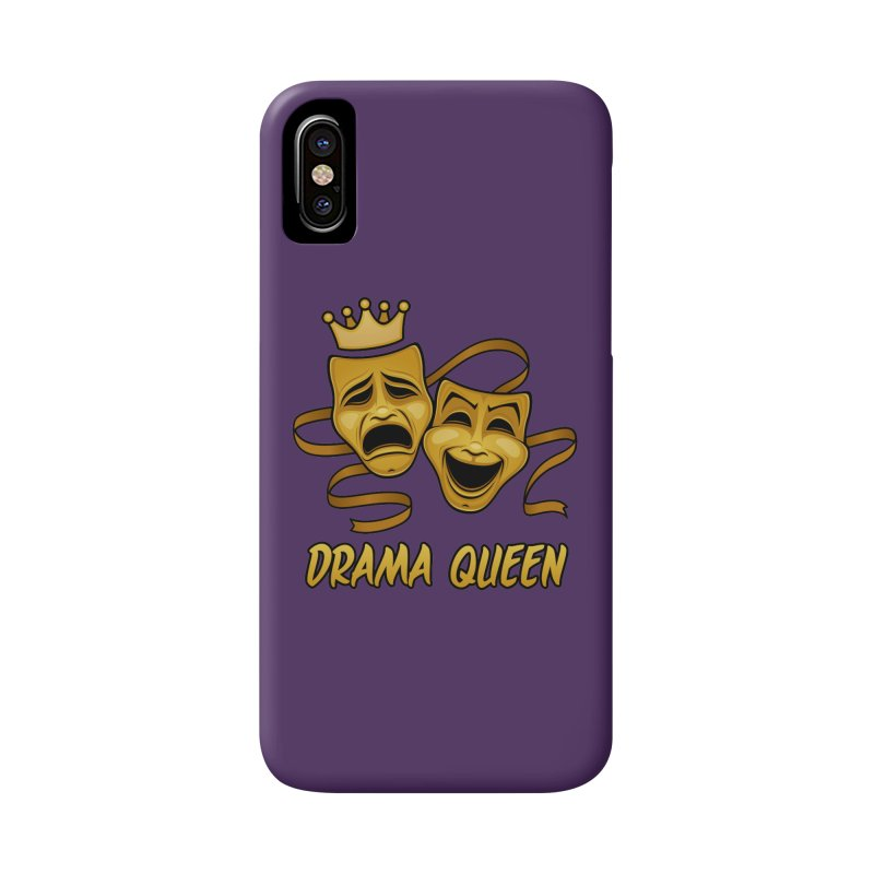 Drama Queen Comedy And Tragedy Gold Theater Masks Accessories Phone Case by Fizzgig's Artist Shop