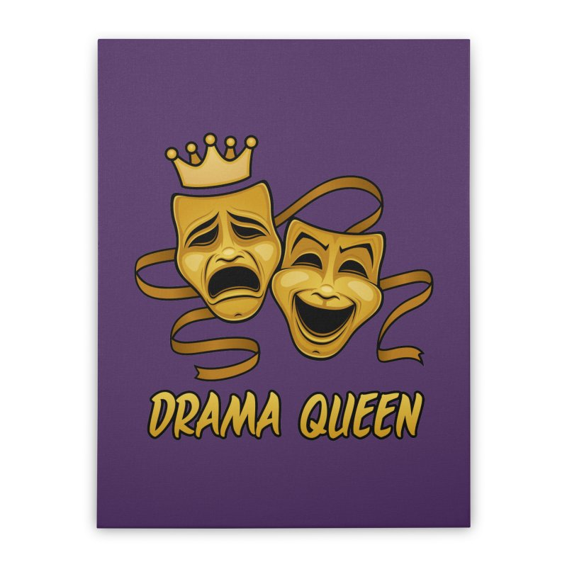 Drama Queen Comedy And Tragedy Gold Theater Masks Home Stretched Canvas by Fizzgig's Artist Shop