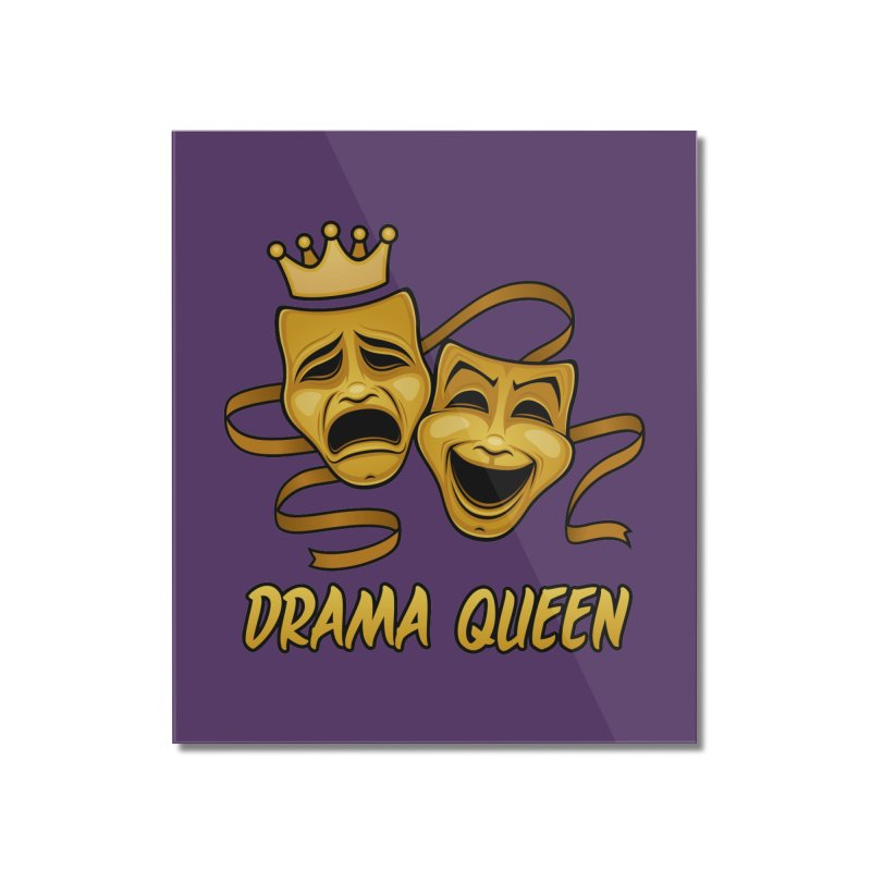 Drama Queen Comedy And Tragedy Gold Theater Masks Home Mounted Acrylic Print by Fizzgig's Artist Shop