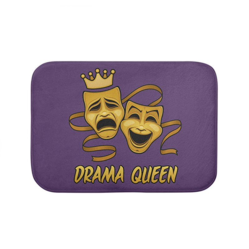 Drama Queen Comedy And Tragedy Gold Theater Masks Home Bath Mat by Fizzgig's Artist Shop