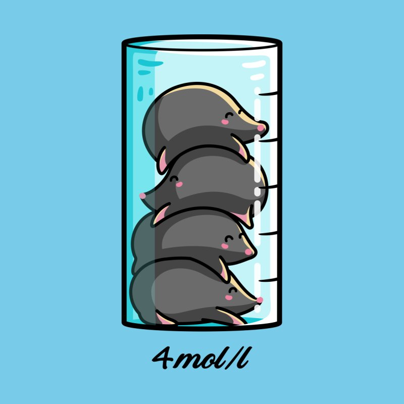 4 Moles Per Litre Chemistry Science Joke by Flaming Imp's Artist Shop