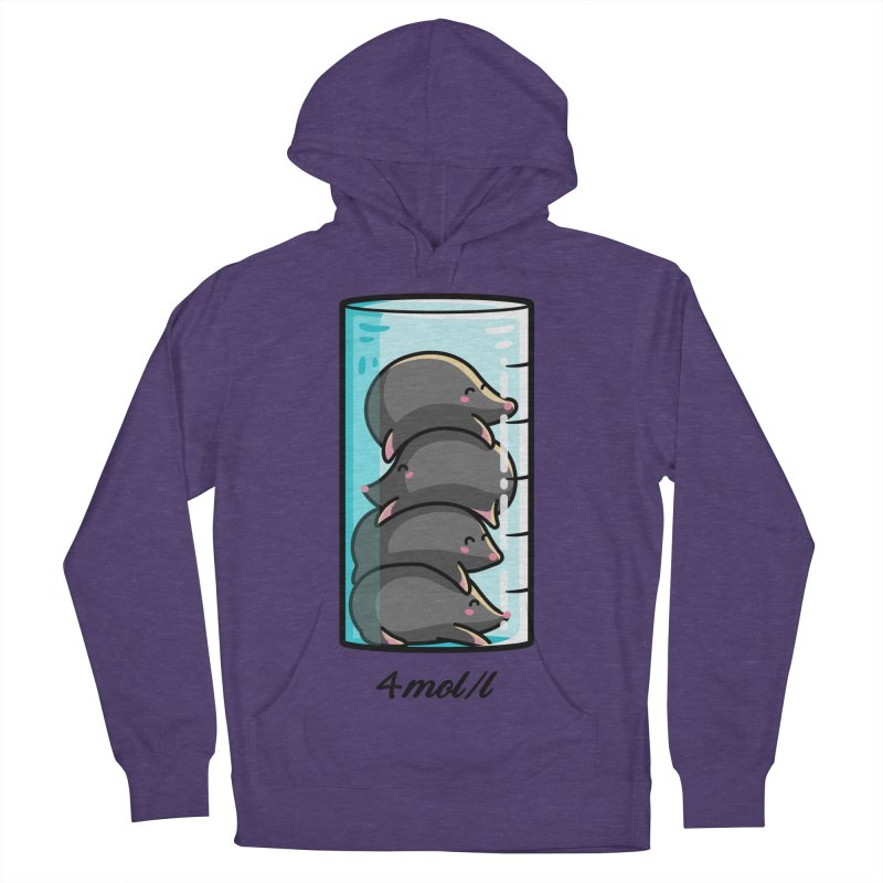 4 Moles Per Litre Chemistry Science Joke Women's French Terry Pullover Hoody by Flaming Imp's Artist Shop