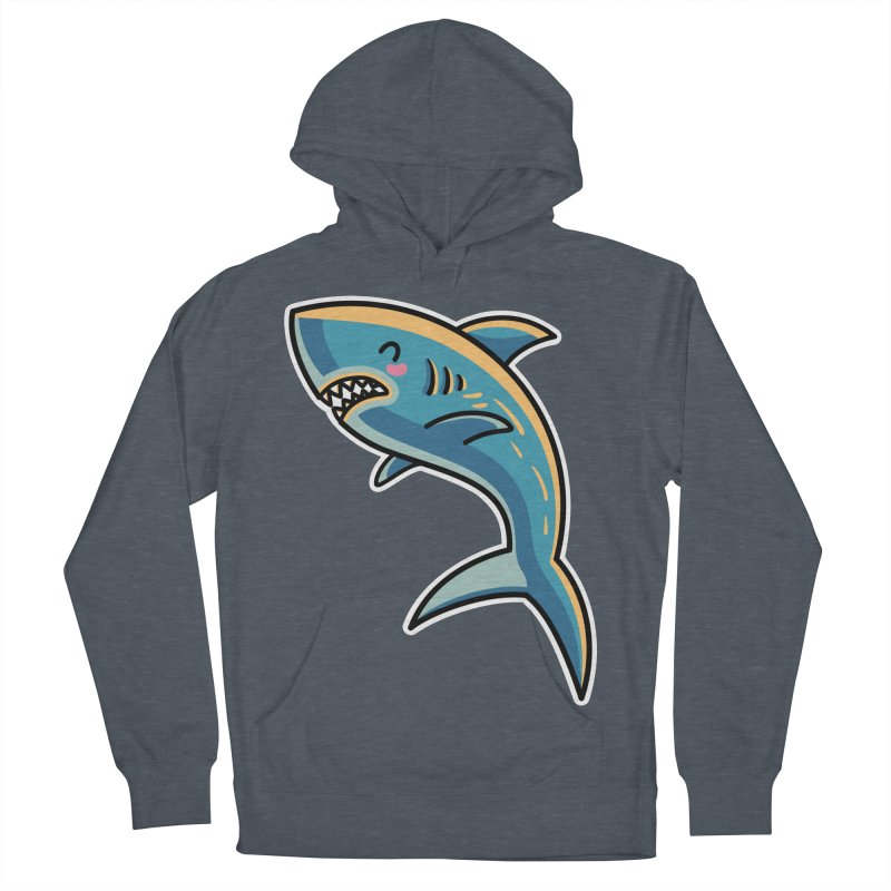 Kawaii Cute Shark Women's French Terry Pullover Hoody by Flaming Imp's Artist Shop