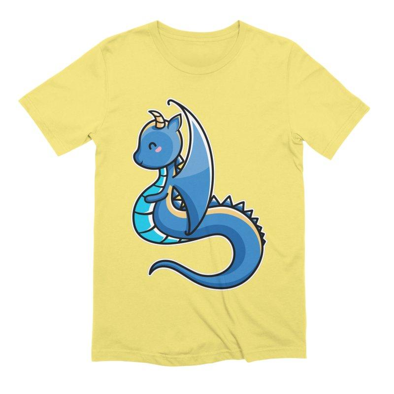 Kawaii Cute Dragon Men's Extra Soft T-Shirt by Flaming Imp's Artist Shop