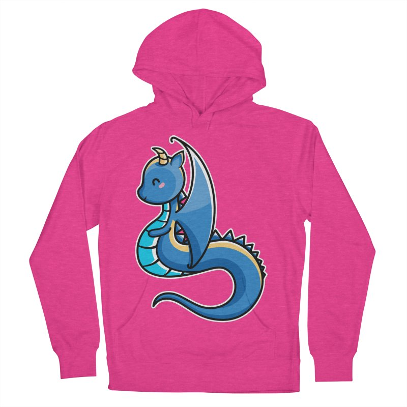 Kawaii Cute Dragon Women's French Terry Pullover Hoody by Flaming Imp's Artist Shop