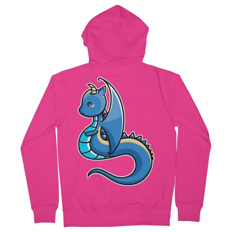 Kawaii Cute Dragon Men's French Terry Zip-Up Hoody by Flaming Imp's Artist Shop