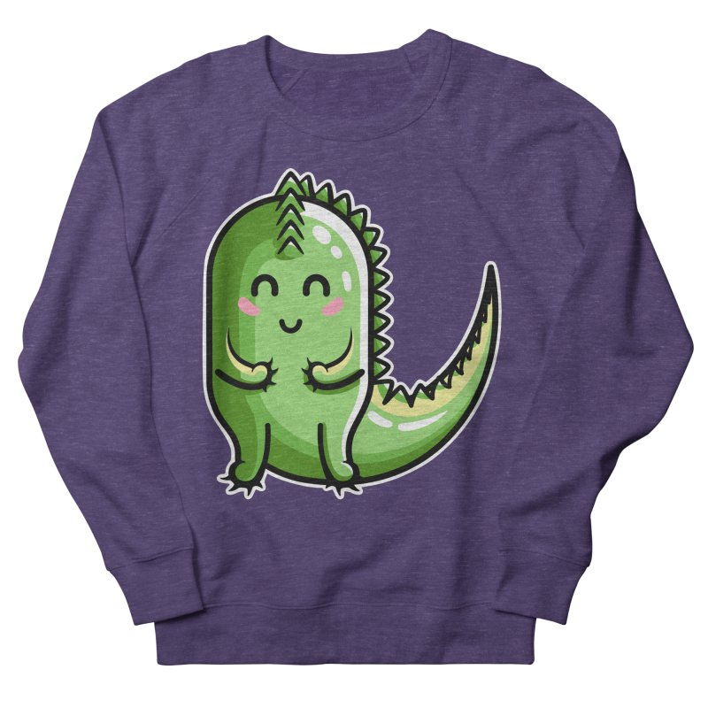 Kawaii Cute Dinosaur Women's French Terry Sweatshirt by Flaming Imp's Artist Shop
