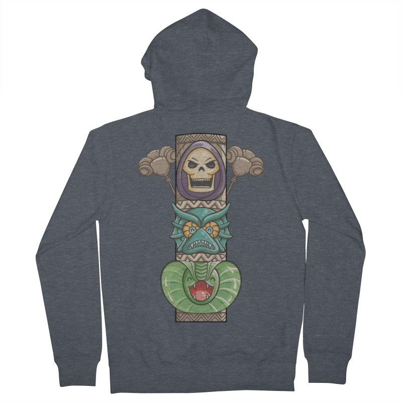 Villains of the Totem Men's French Terry Zip-Up Hoody by Flaming Imp's Artist Shop