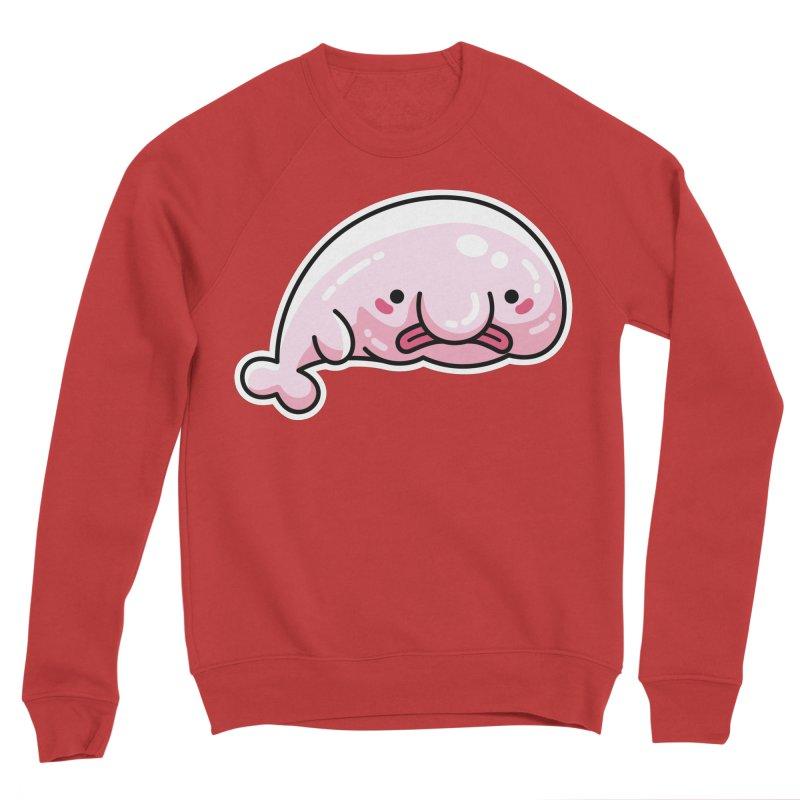 Kawaii Cute Blobfish Women's Sponge Fleece Sweatshirt by Flaming Imp's Artist Shop