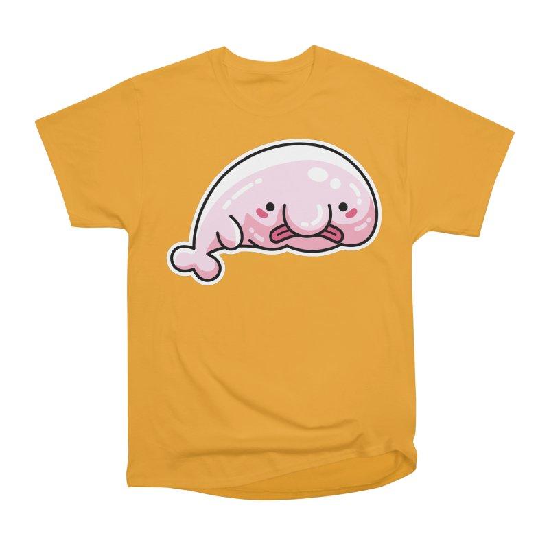 Kawaii Cute Blobfish Men's Heavyweight T-Shirt by Flaming Imp's Artist Shop