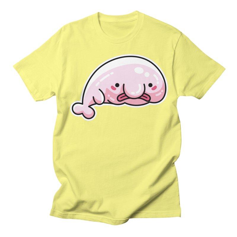 Kawaii Cute Blobfish Women's Regular Unisex T-Shirt by Flaming Imp's Artist Shop