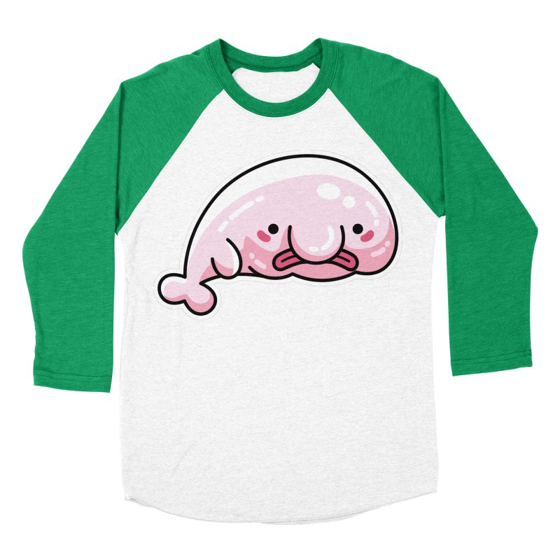Kawaii Cute Blobfish Men's Baseball Triblend Longsleeve T-Shirt by Flaming Imp's Artist Shop