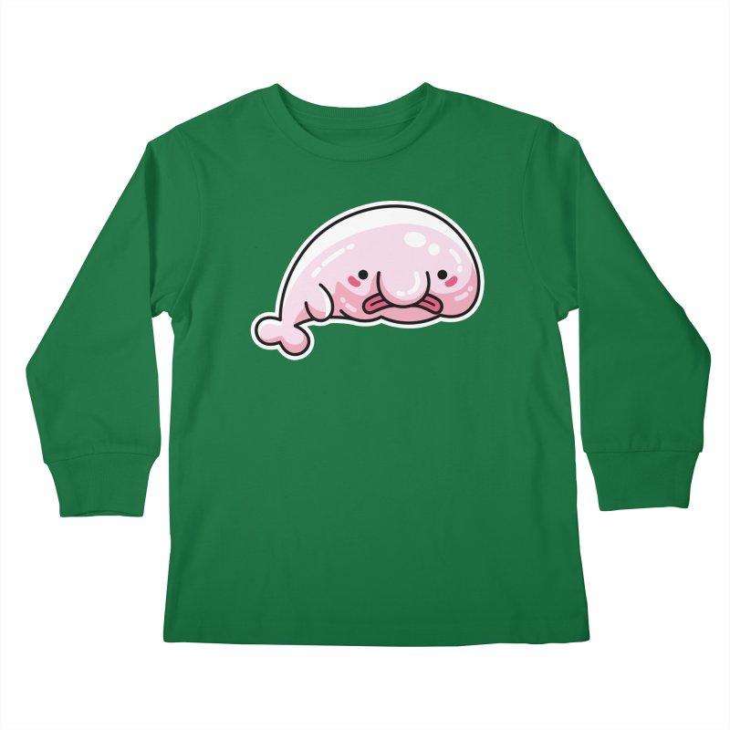 Kawaii Cute Blobfish Kids Longsleeve T-Shirt by Flaming Imp's Artist Shop