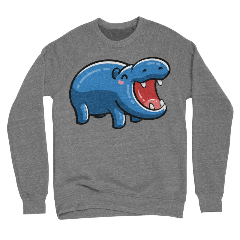 Cute Happy Hippo Men's Sponge Fleece Sweatshirt by Flaming Imp's Artist Shop
