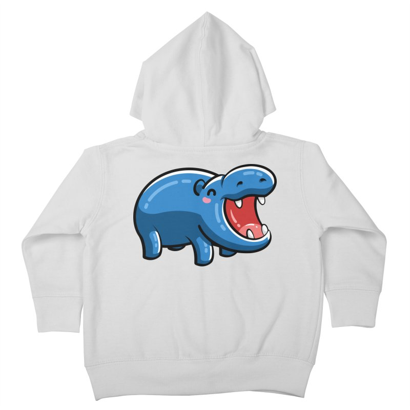 Cute Happy Hippo Kids Toddler Zip-Up Hoody by Flaming Imp's Artist Shop