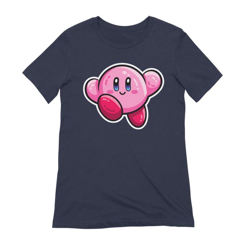 Kawaii Cute Kirby Women's Extra Soft T-Shirt by Flaming Imp's Artist Shop