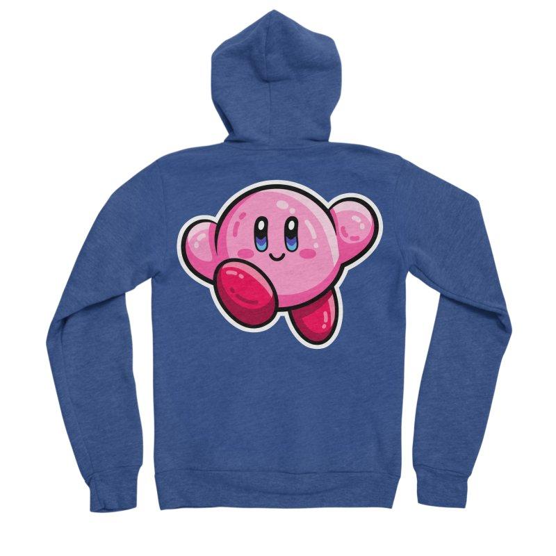 Kawaii Cute Kirby Women's Sponge Fleece Zip-Up Hoody by Flaming Imp's Artist Shop