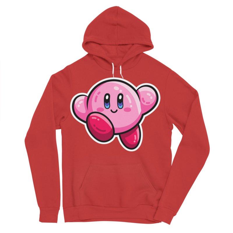Kawaii Cute Kirby Men's Sponge Fleece Pullover Hoody by Flaming Imp's Artist Shop