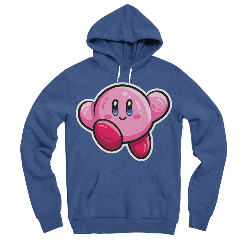 Kawaii Cute Kirby Women's Sponge Fleece Pullover Hoody by Flaming Imp's Artist Shop
