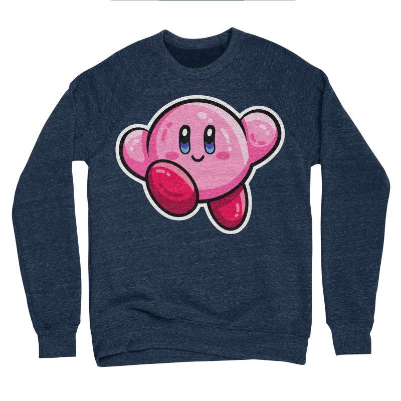 Kawaii Cute Kirby Women's Sponge Fleece Sweatshirt by Flaming Imp's Artist Shop