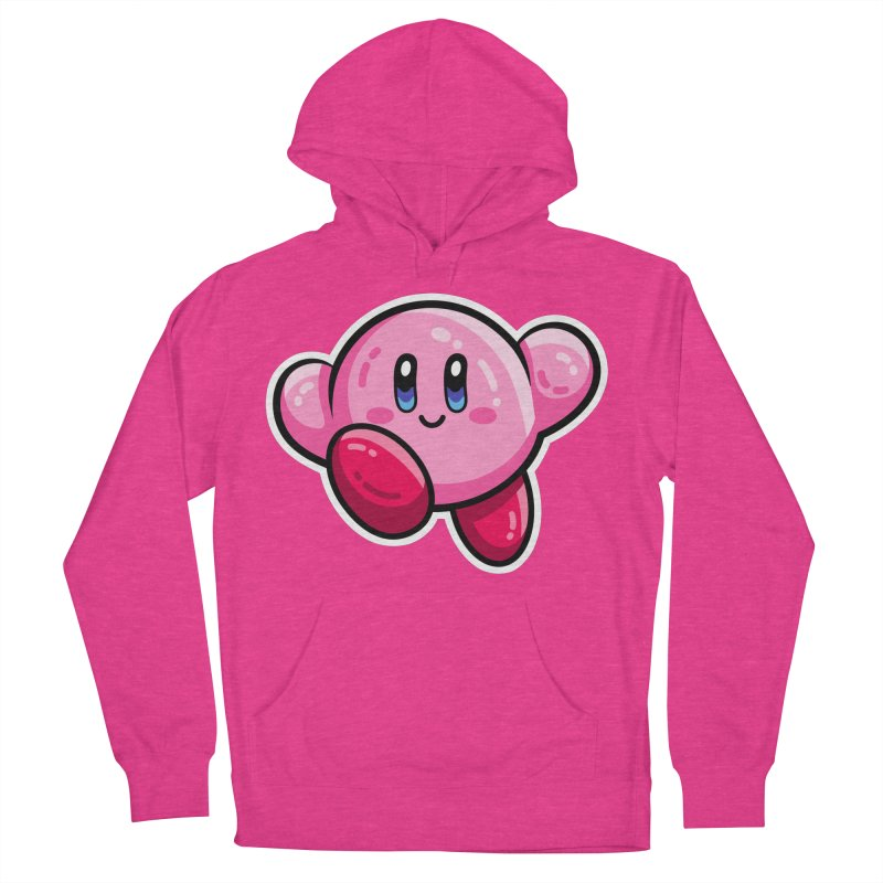 Kawaii Cute Kirby Men's French Terry Pullover Hoody by Flaming Imp's Artist Shop