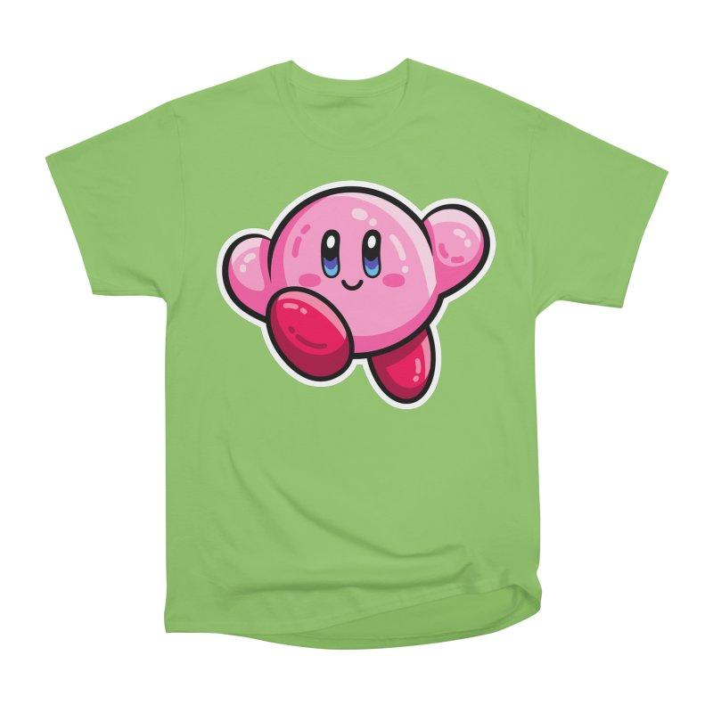 Kawaii Cute Kirby Men's Heavyweight T-Shirt by Flaming Imp's Artist Shop