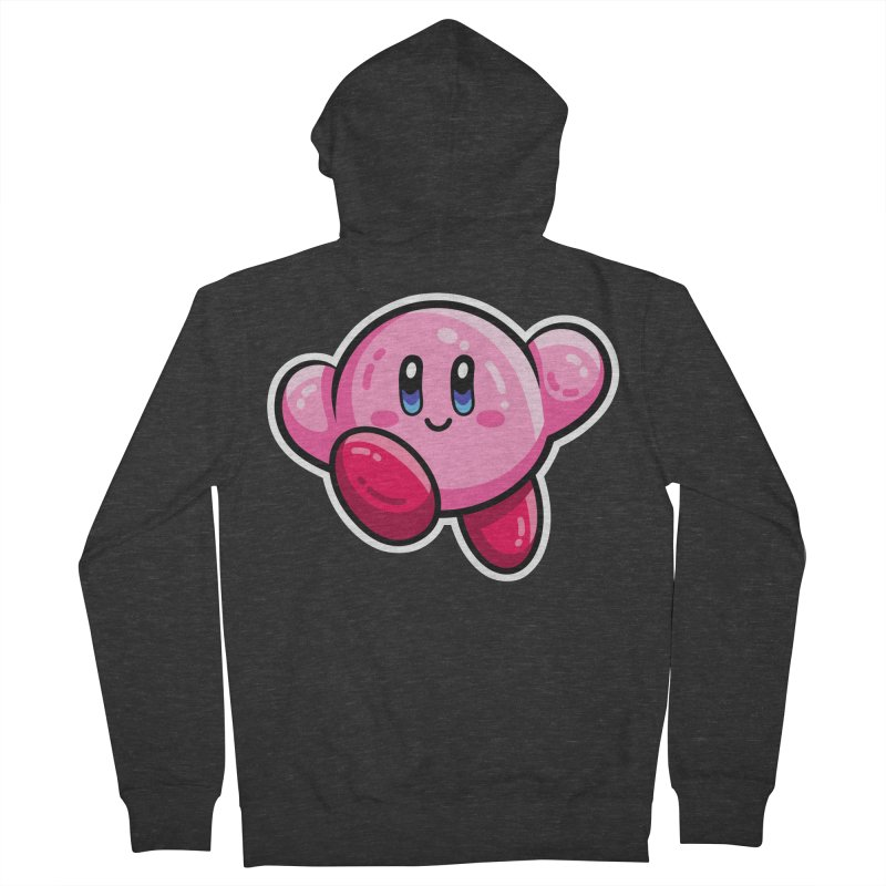 Kawaii Cute Kirby Women's French Terry Zip-Up Hoody by Flaming Imp's Artist Shop