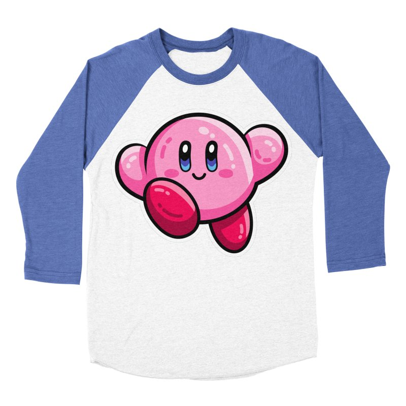 Kawaii Cute Kirby Women's Baseball Triblend Longsleeve T-Shirt by Flaming Imp's Artist Shop