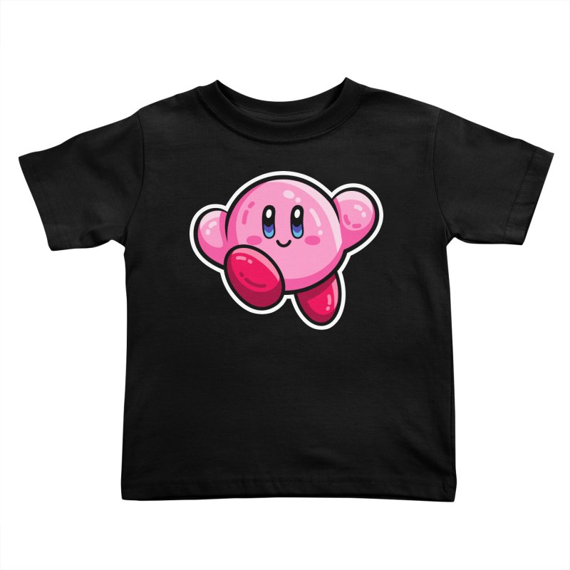 Kawaii Cute Kirby Kids Toddler T-Shirt by Flaming Imp's Artist Shop