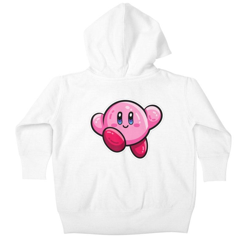 Kawaii Cute Kirby Kids Baby Zip-Up Hoody by Flaming Imp's Artist Shop