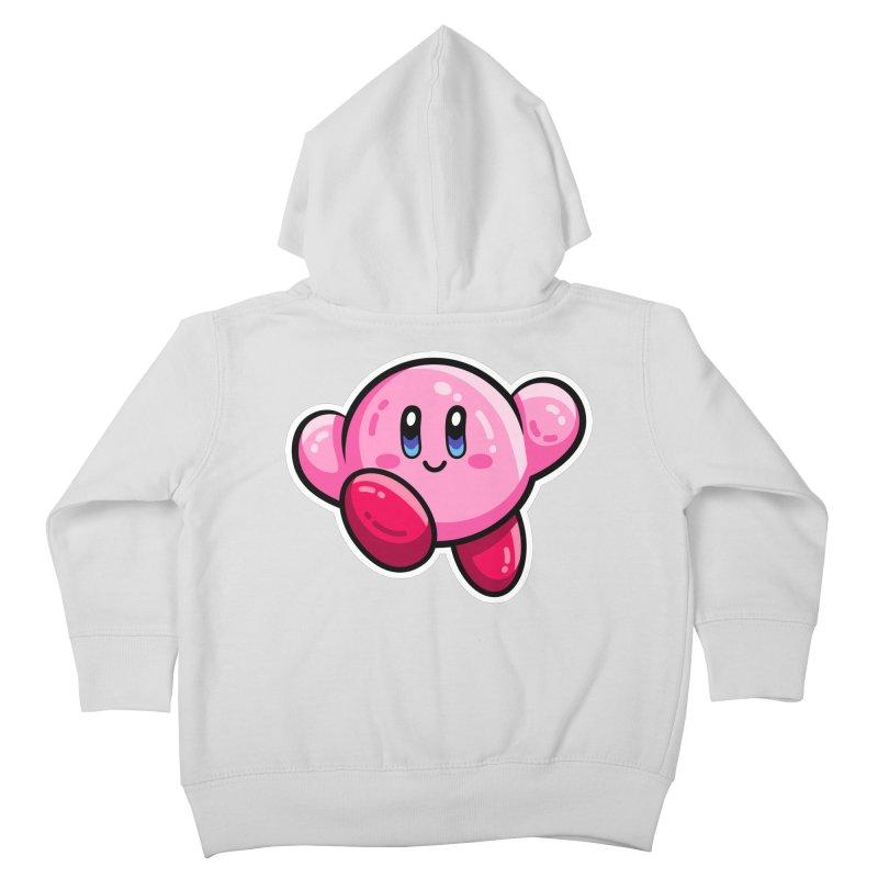 Kawaii Cute Kirby Kids Toddler Zip-Up Hoody by Flaming Imp's Artist Shop