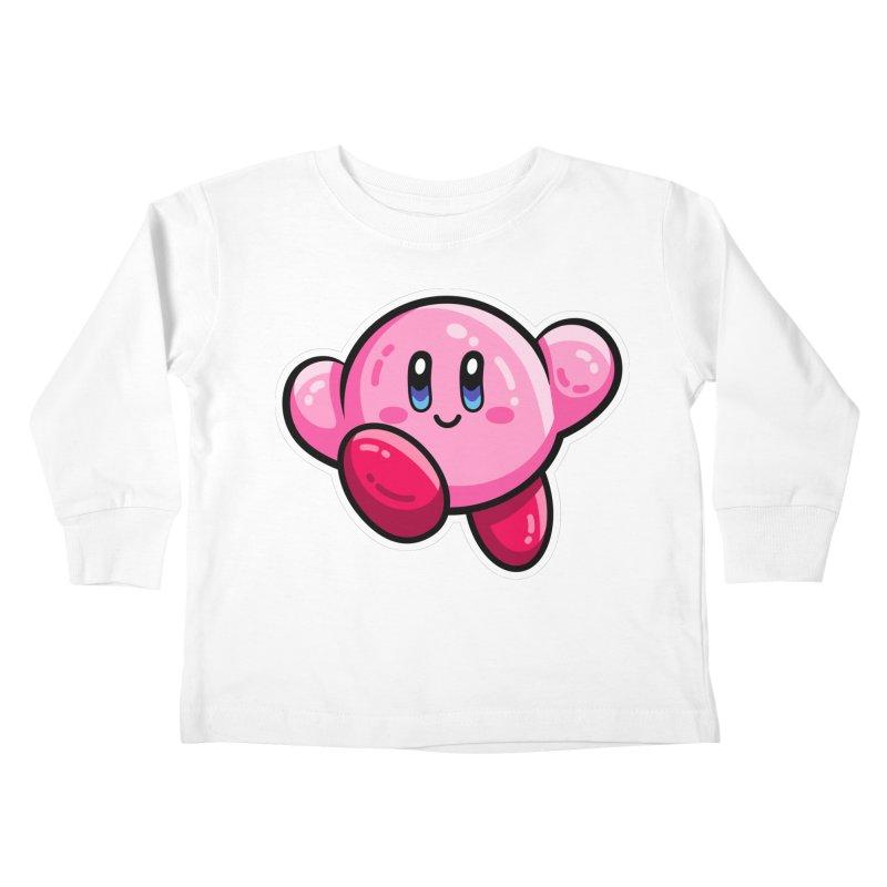 Kawaii Cute Kirby Kids Toddler Longsleeve T-Shirt by Flaming Imp's Artist Shop