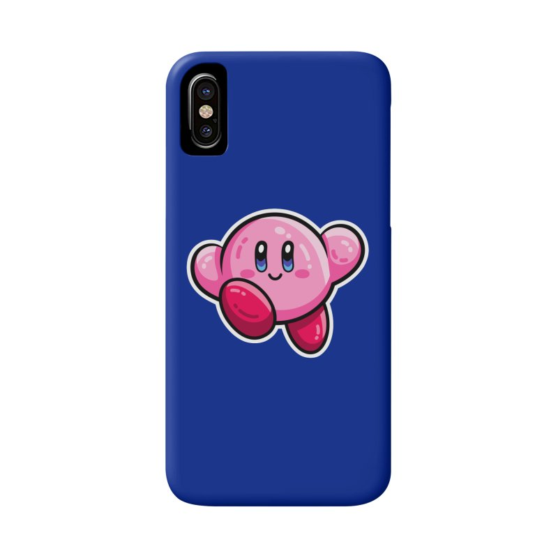 Kawaii Cute Kirby Accessories Phone Case by Flaming Imp's Artist Shop