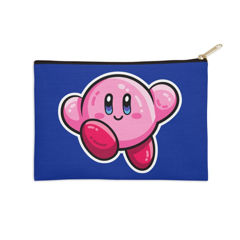Kawaii Cute Kirby Accessories Zip Pouch by Flaming Imp's Artist Shop