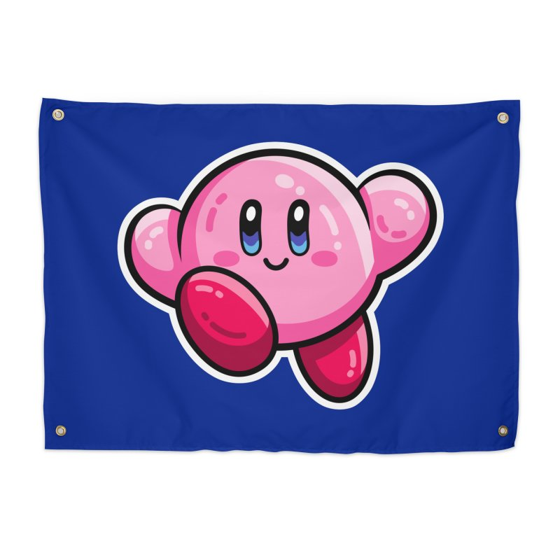 Kawaii Cute Kirby Home Tapestry by Flaming Imp's Artist Shop