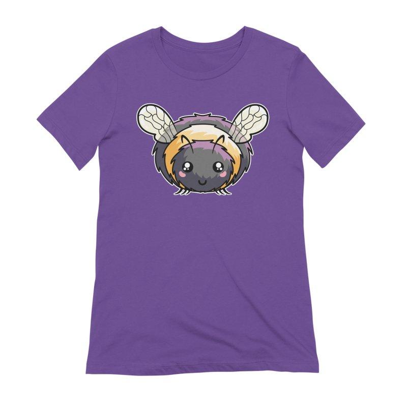 Kawaii Cute Bee Women's Extra Soft T-Shirt by Flaming Imp's Artist Shop