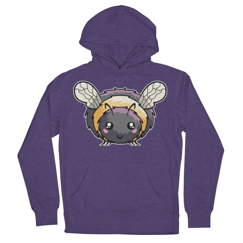 Kawaii Cute Bee Men's French Terry Pullover Hoody by Flaming Imp's Artist Shop