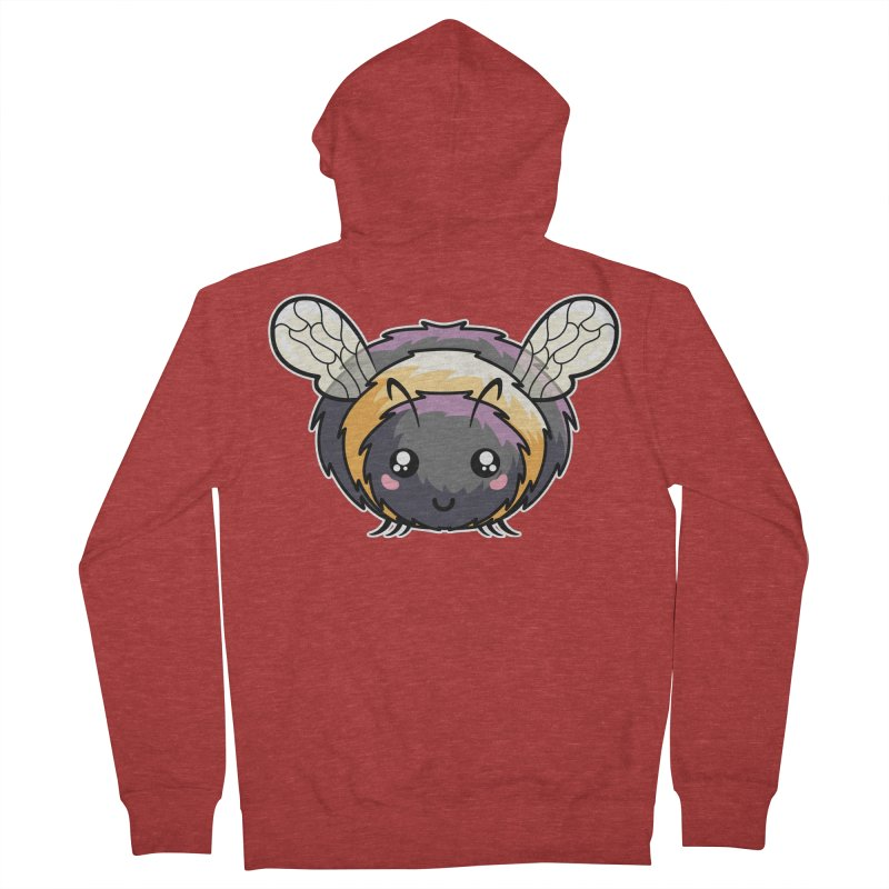 Kawaii Cute Bee Men's French Terry Zip-Up Hoody by Flaming Imp's Artist Shop