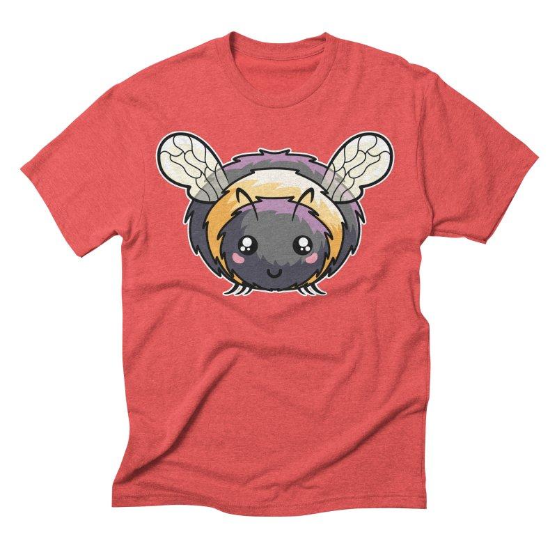 Kawaii Cute Bee Men's Triblend T-Shirt by Flaming Imp's Artist Shop