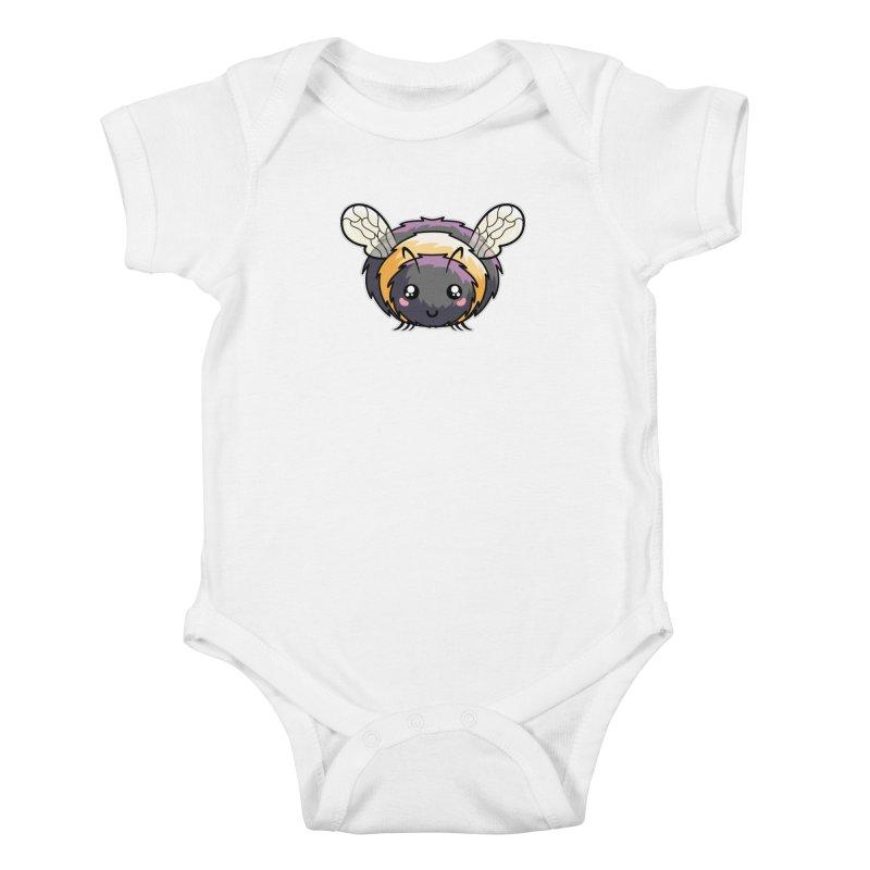 Kawaii Cute Bee Kids Baby Bodysuit by Flaming Imp's Artist Shop