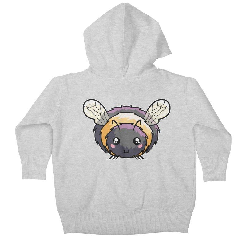 Kawaii Cute Bee Kids Baby Zip-Up Hoody by Flaming Imp's Artist Shop