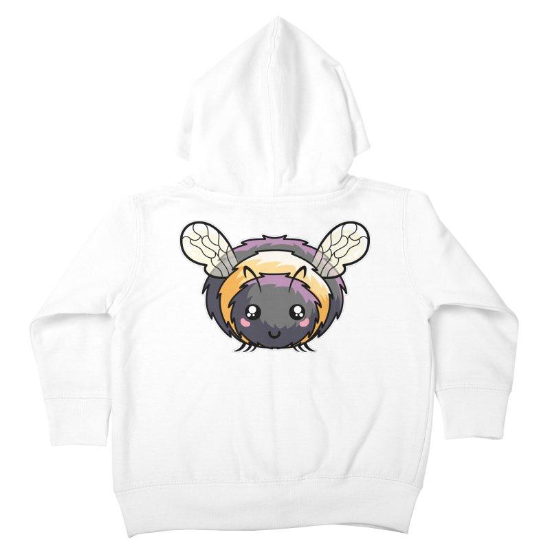 Kawaii Cute Bee Kids Toddler Zip-Up Hoody by Flaming Imp's Artist Shop