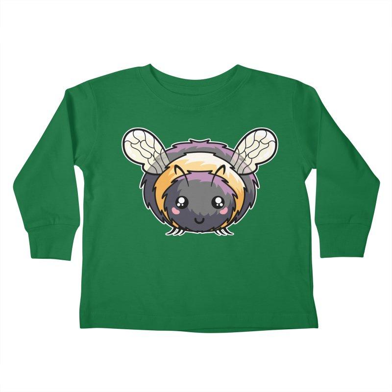 Kawaii Cute Bee Kids Toddler Longsleeve T-Shirt by Flaming Imp's Artist Shop