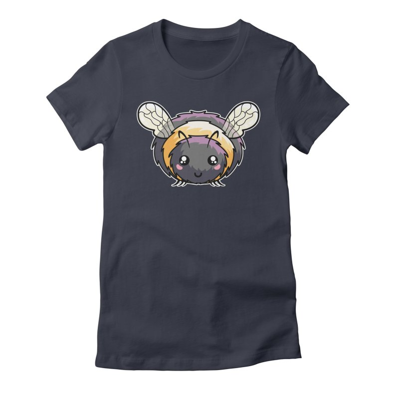 Kawaii Cute Bee Women's Fitted T-Shirt by Flaming Imp's Artist Shop