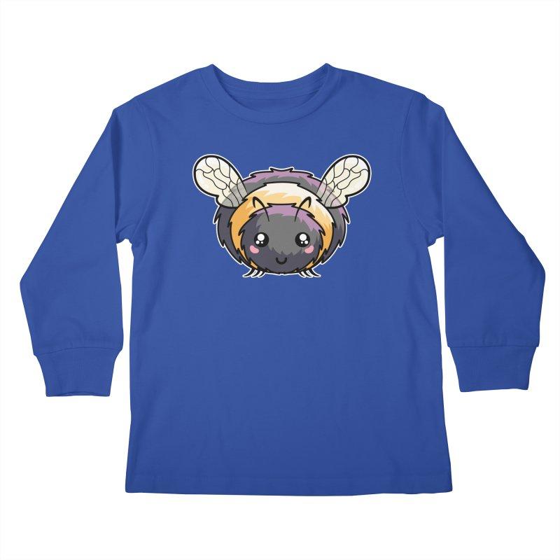 Kawaii Cute Bee Kids Longsleeve T-Shirt by Flaming Imp's Artist Shop