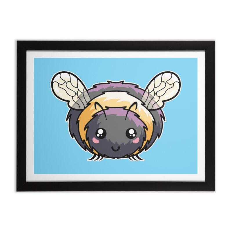 Kawaii Cute Bee Home Framed Fine Art Print by Flaming Imp's Artist Shop